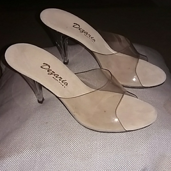 95c58124db1 Dezario Shoes - Dezario vintage clear acrylic ladies heels.